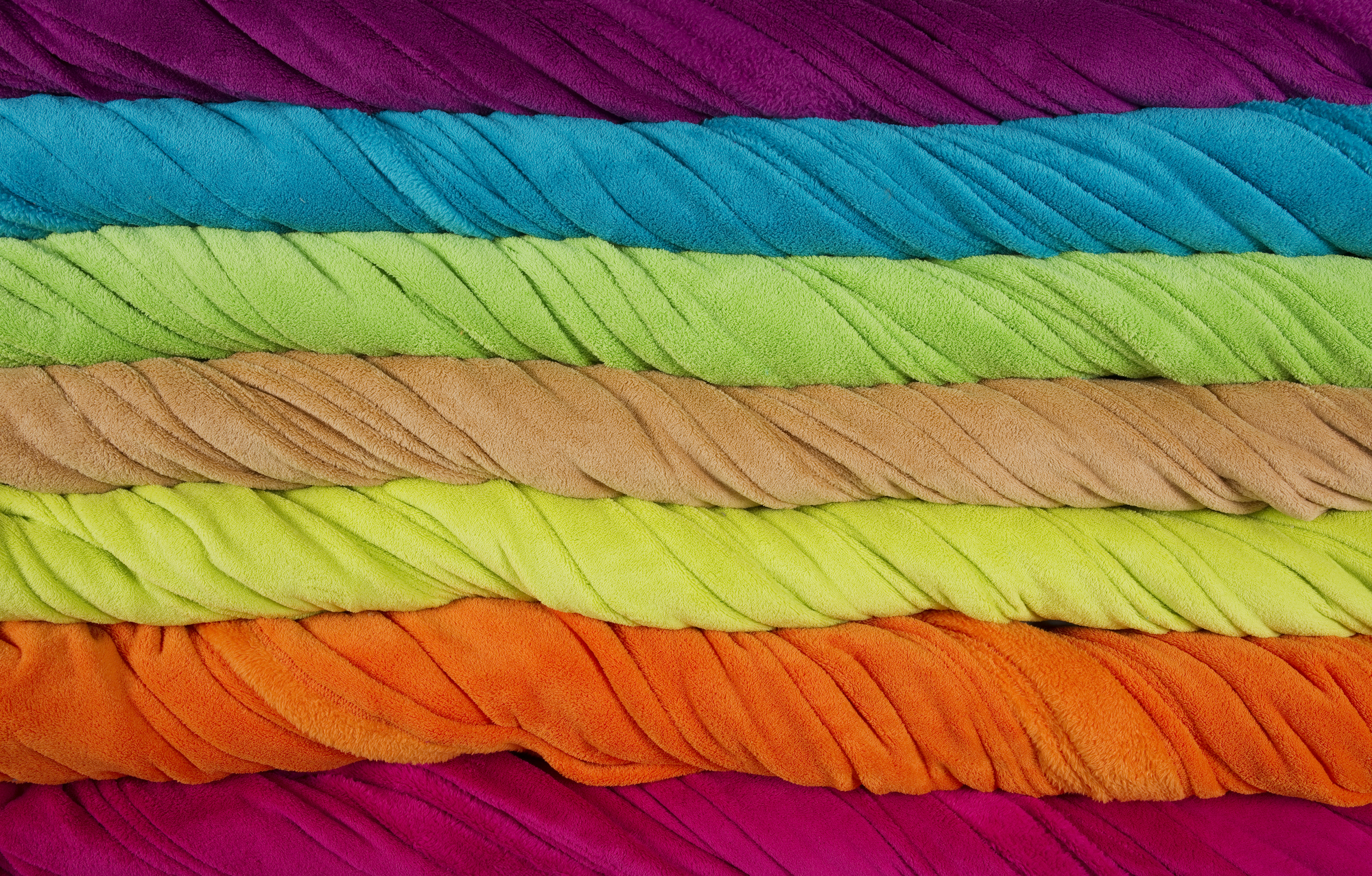 colorful terry towels twisted stripes